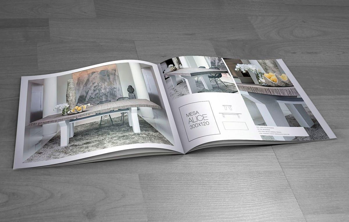Diseño de catálogo para mobiliario de lujo en Marbella