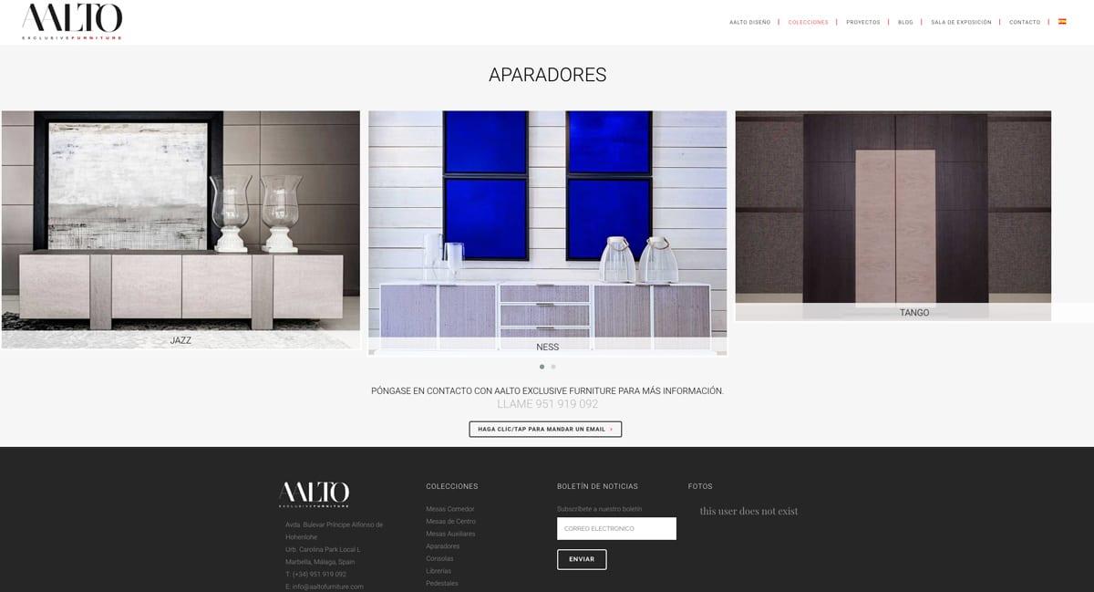 Fichas técnicas de mobiliario con sesión de fotografias para catálogo