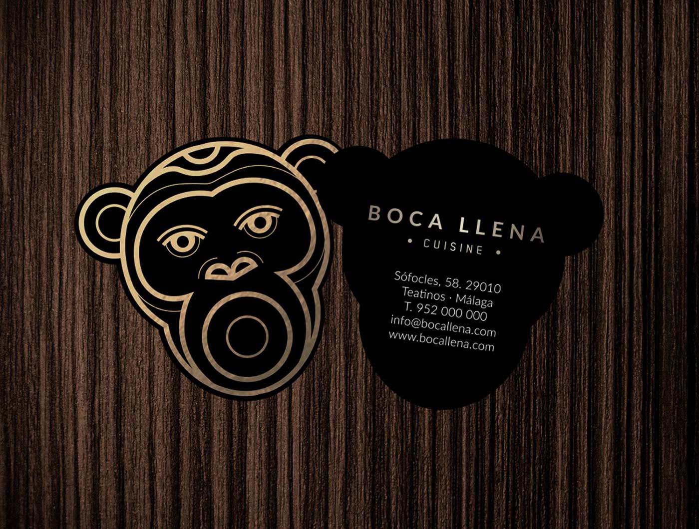 Impresión de tarjetas de lujo con estampación dorada y troquel para restaurantes