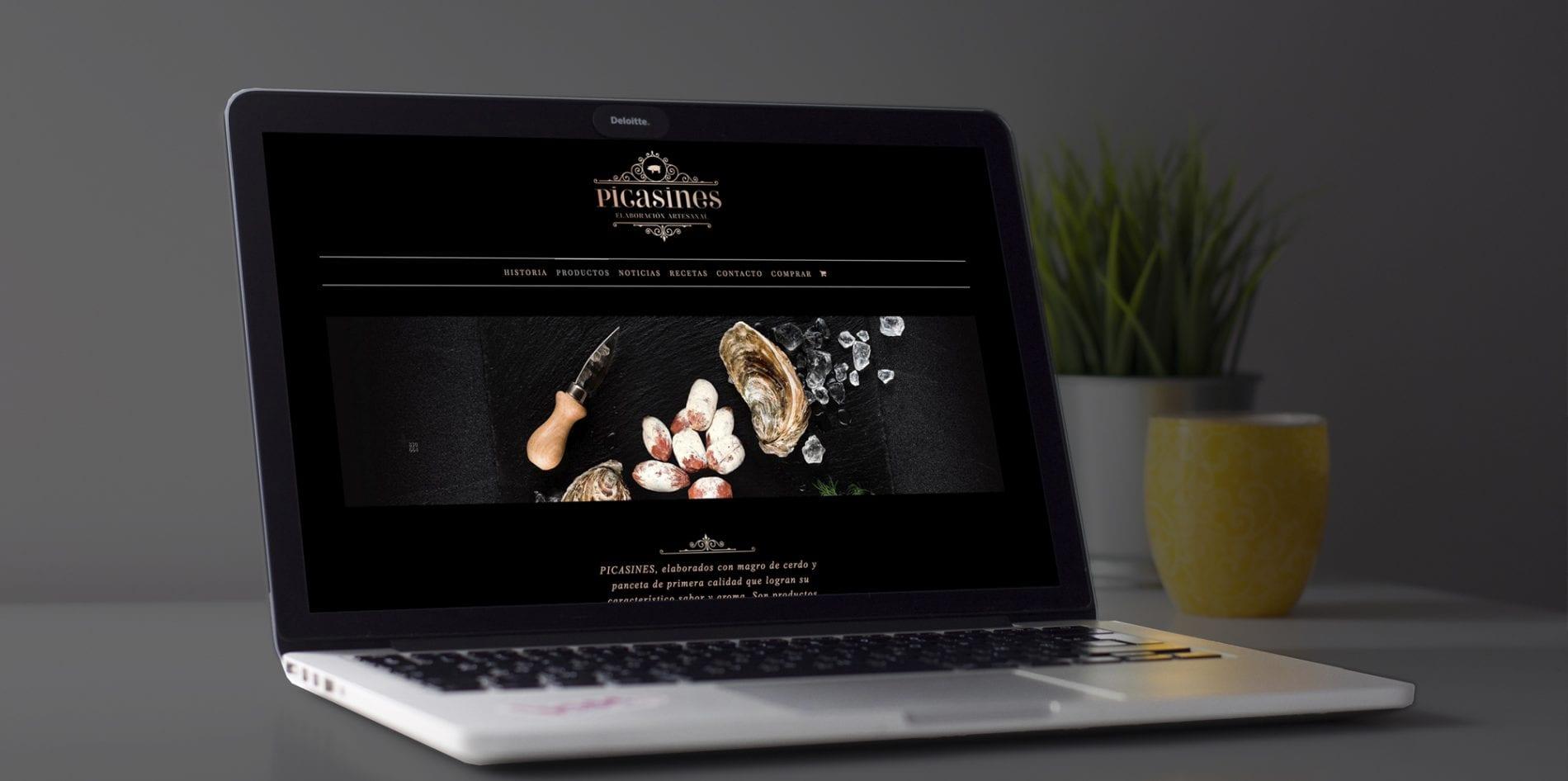 Picasines, tienda de venta online para empresa de embutidos en Pizarra