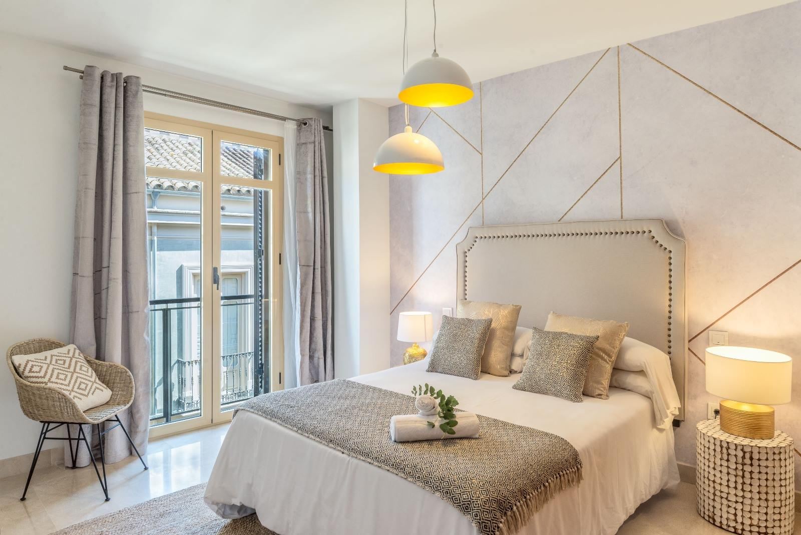 Decoración de apartamentos vacacionales en el centro de Málaga