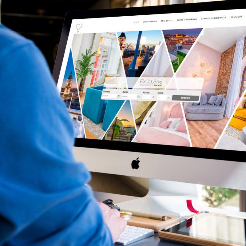 diseño de landing page para web de reservas de apartamentos