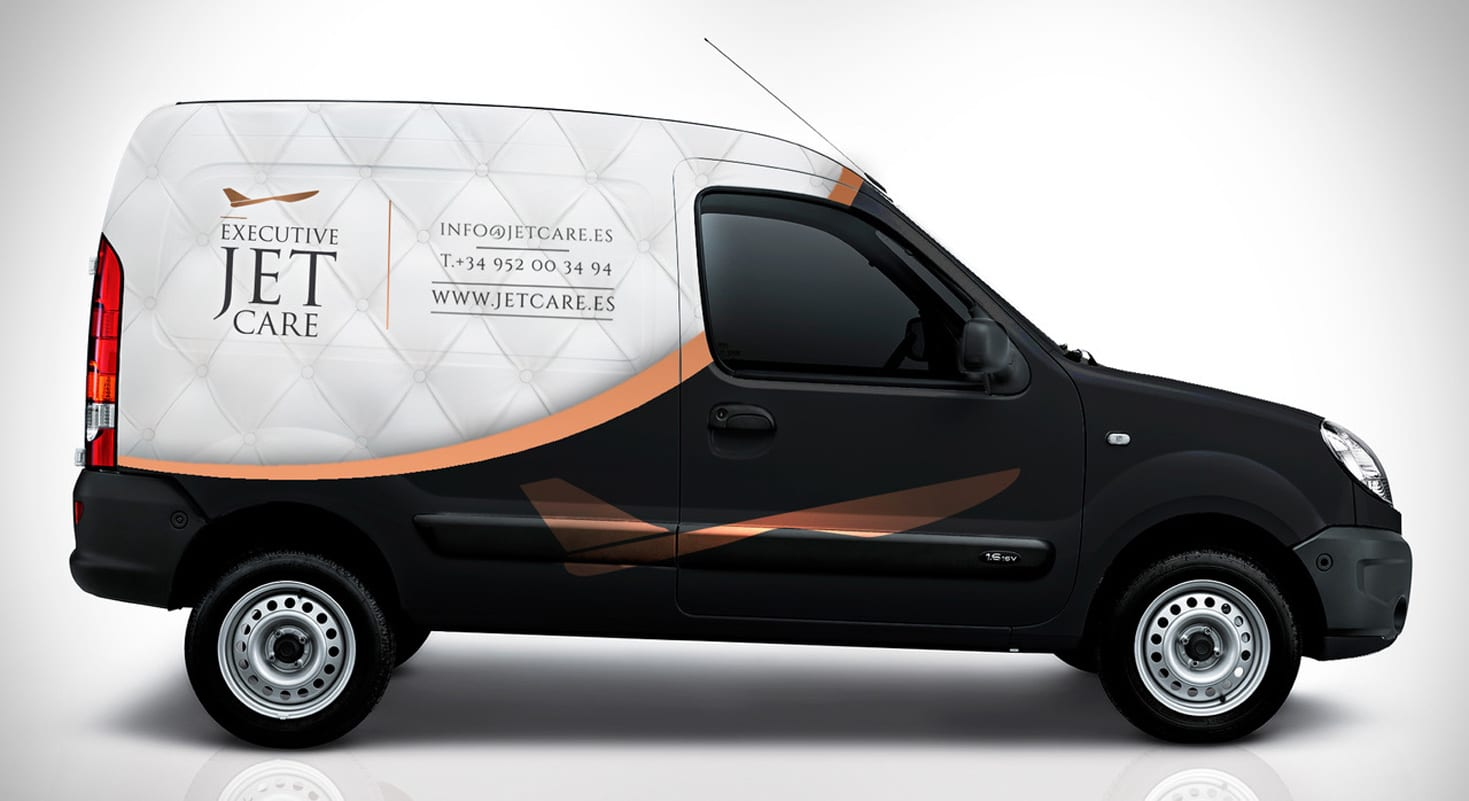Diseño de rotulación para vehículos Executive Jet Care