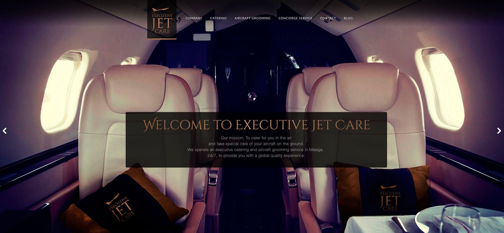 Diseño de imagen corporativa para catering en jets privados