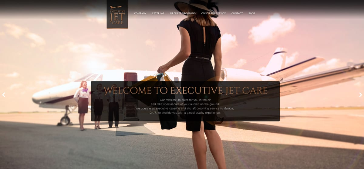 JET EXECUTIVE CARE, diseño corporativo y diseño web para web presencial