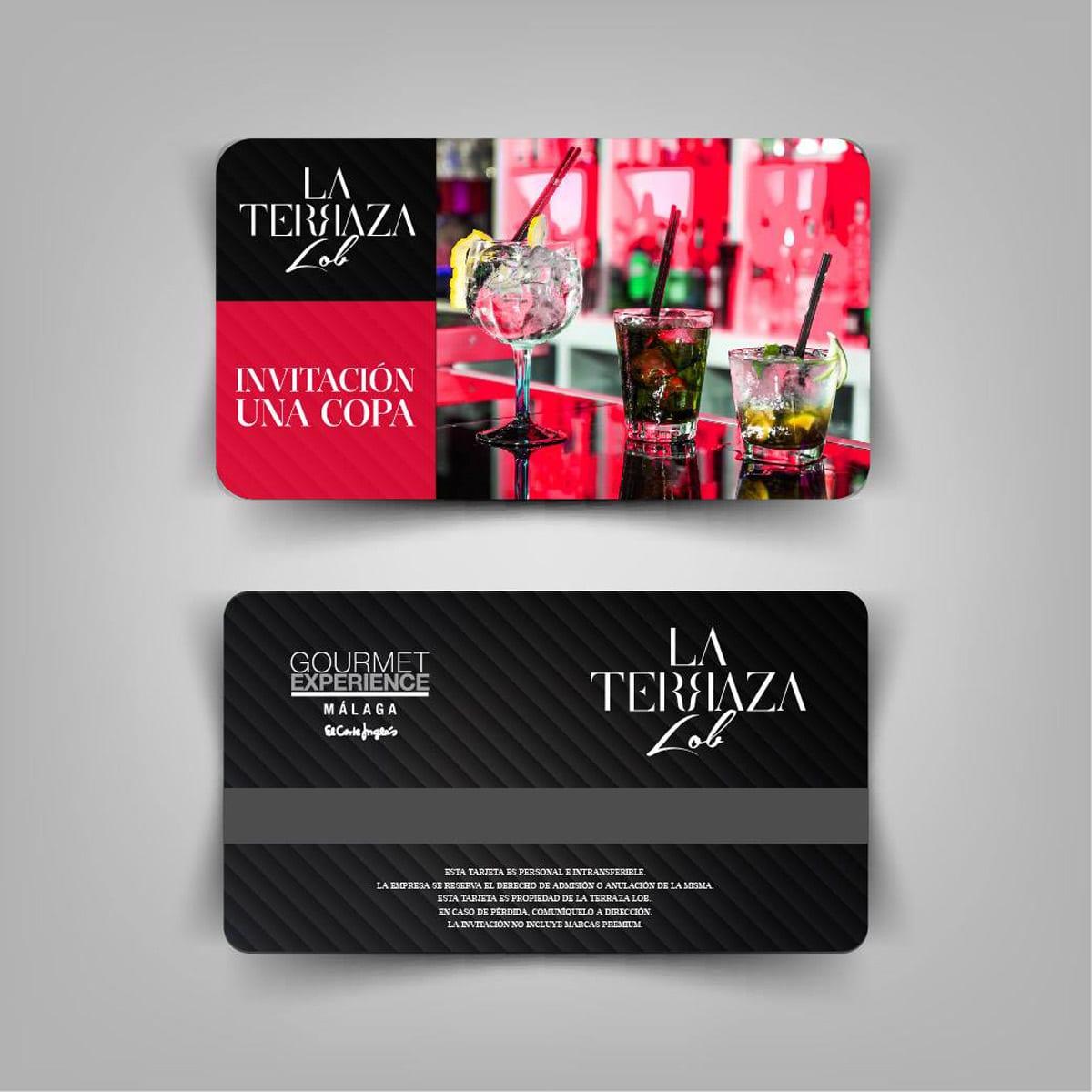 Tarjeta de fidelización e impresión con calidad de tarjeta de crédito