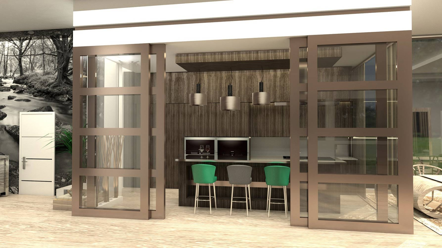 Proyecto de apartamento de lujo en Málaga con infografías en 3d y búsqueda de mobiliario