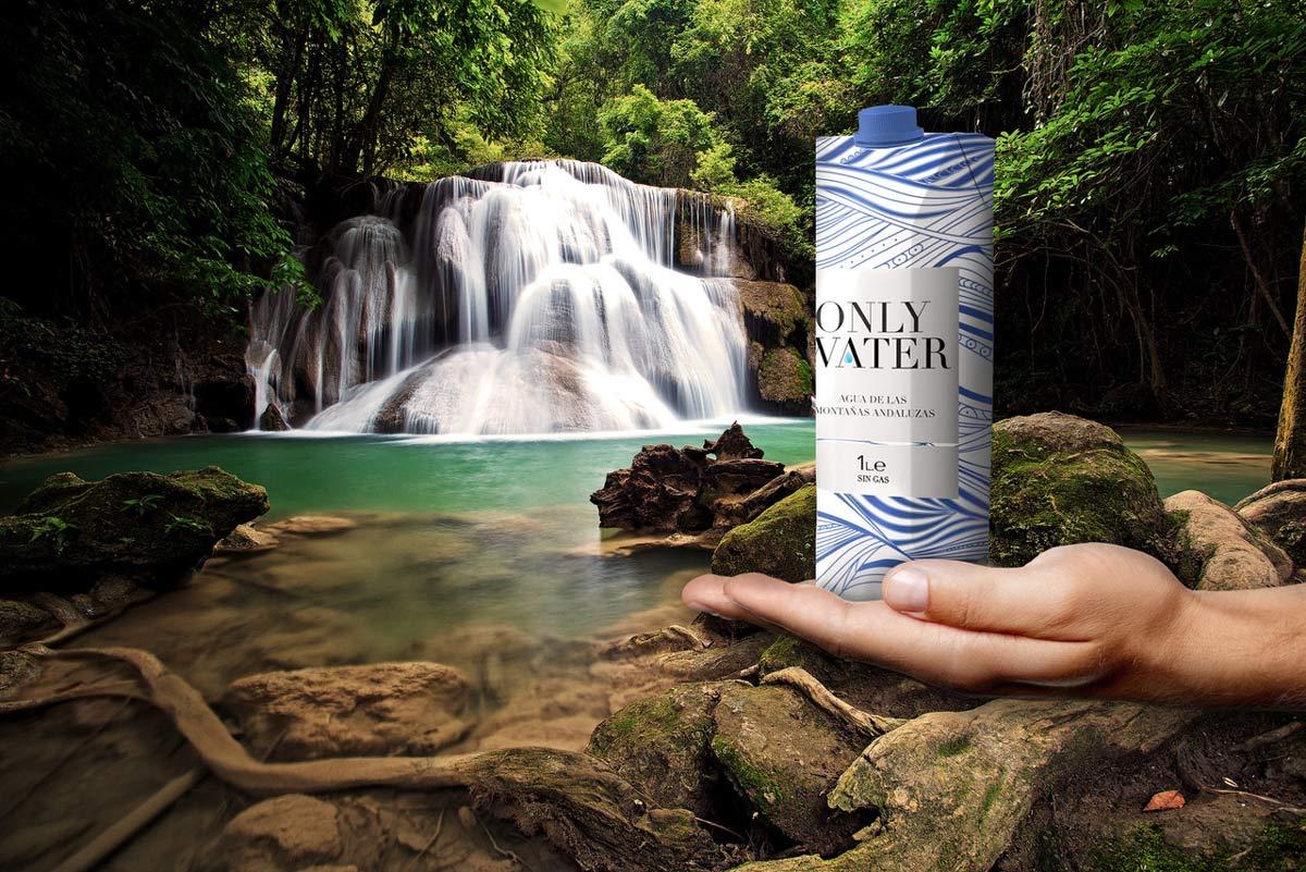 Diseño de packaging ecológico para agua Only Water