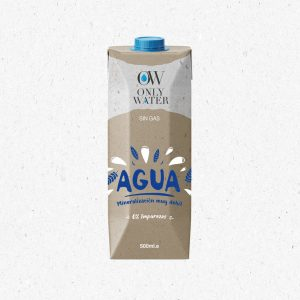 diseño de packaging para envases de agua en cartón sostenible