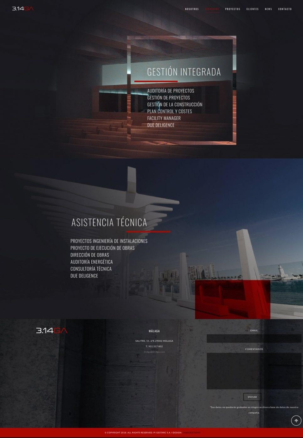 pantallas diseño para web arquitectura