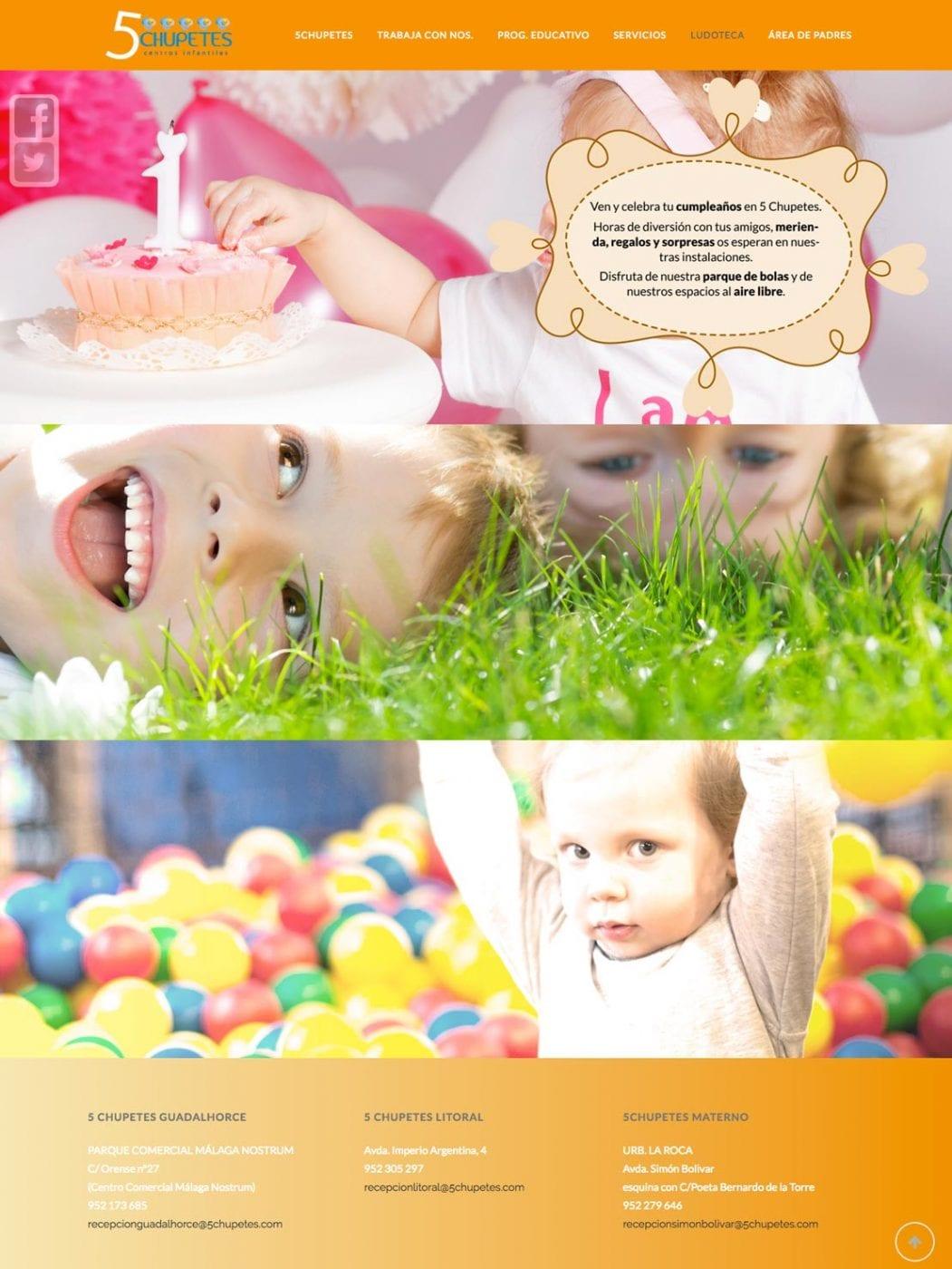 landing page para guarderias infantiles