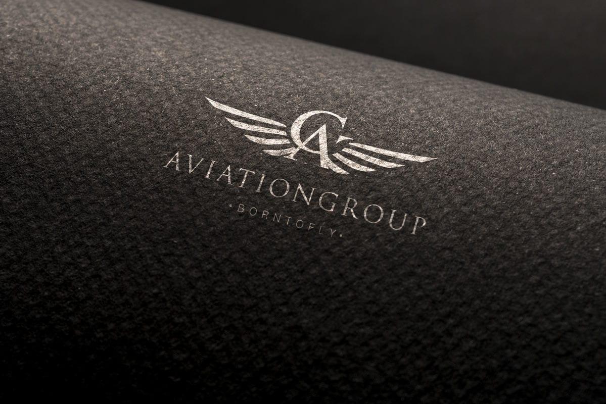 diseño de imagen coporativa para empresa de aviacion