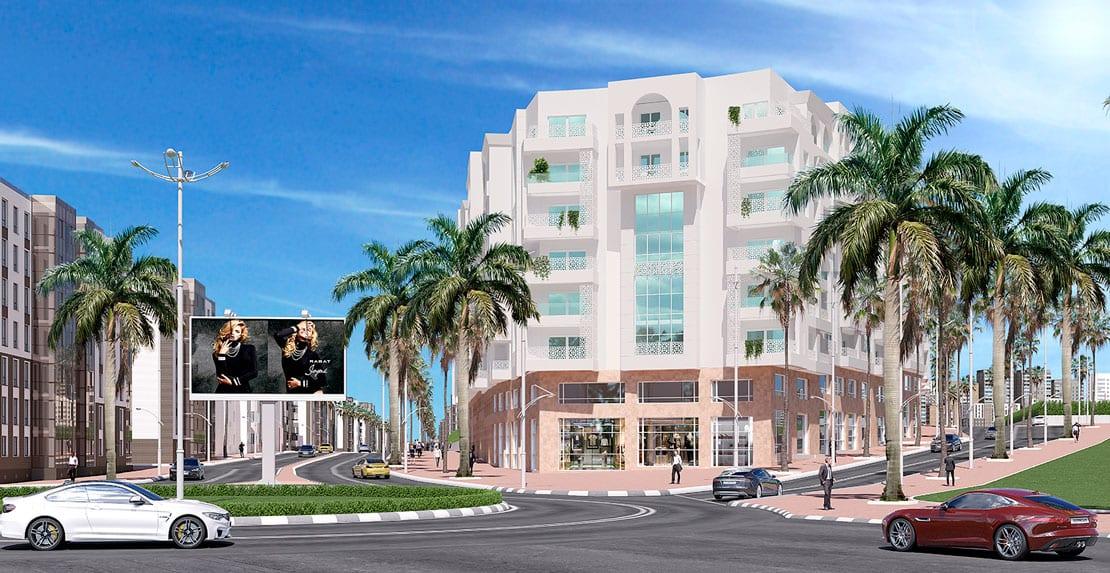 edificio en tanger hecho en 3d de alta calidad