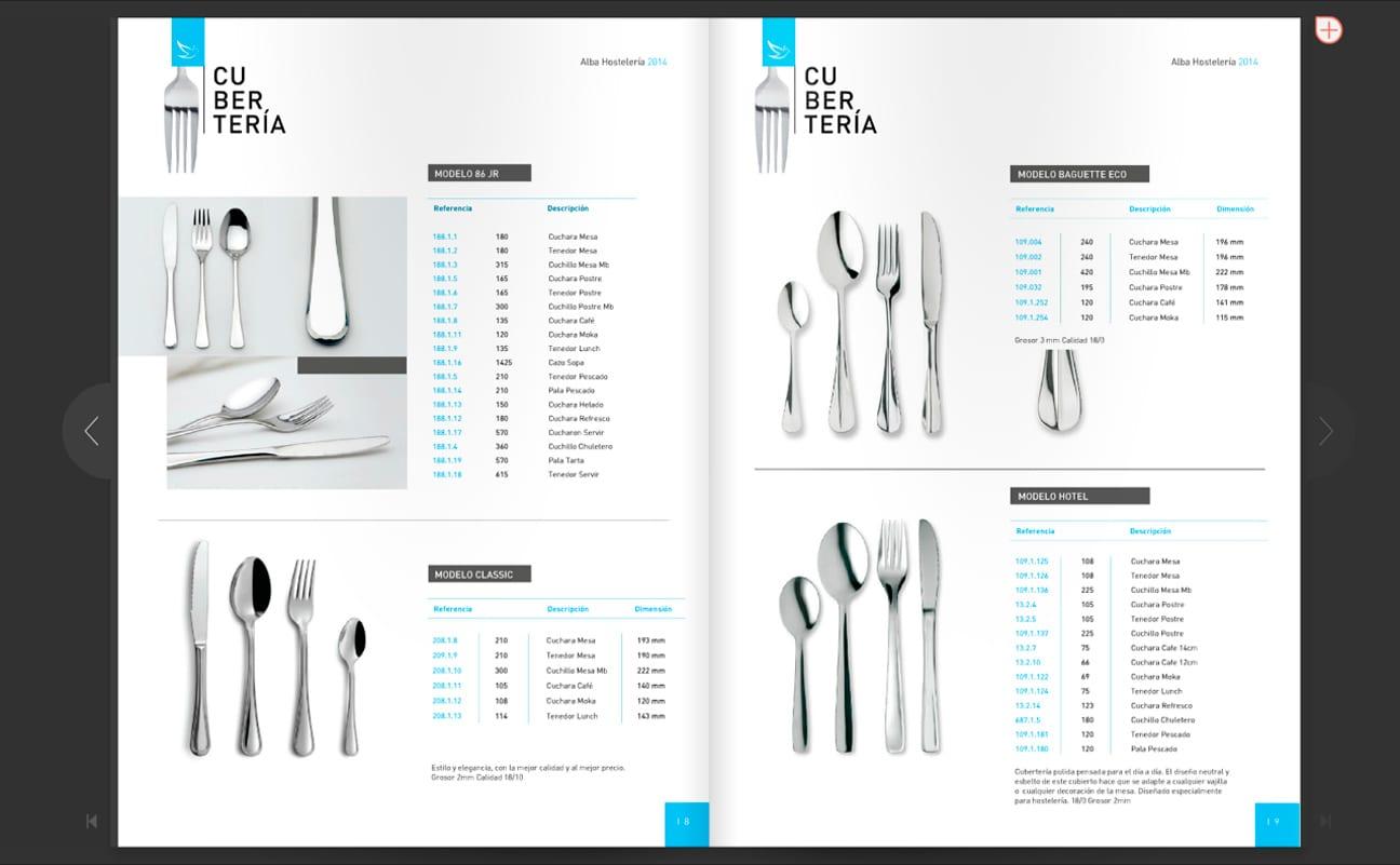 pagians interiores del catalogo de producto