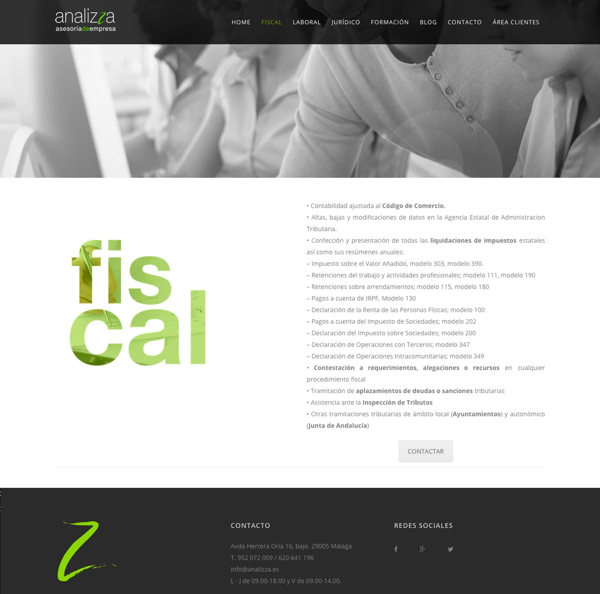 diseño de pagina web descriptiva y funcional
