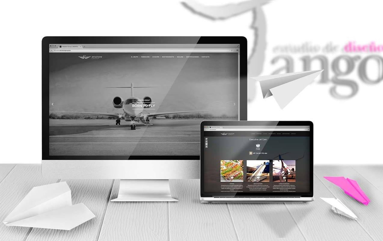 Aviation Group, diseño web, programacion web