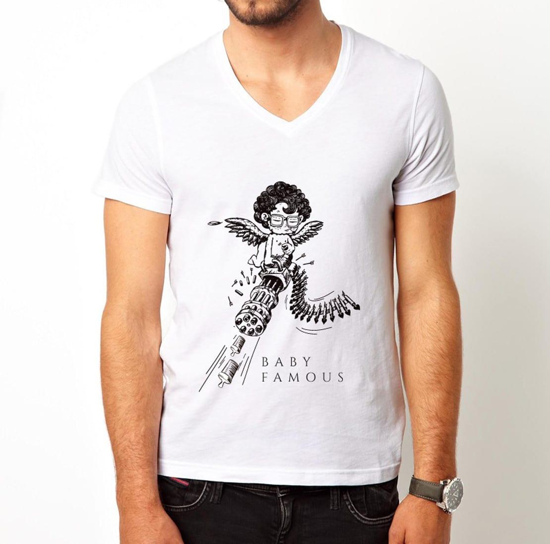 BBdone, diseño de camiseta de hombre con dibujo creativo