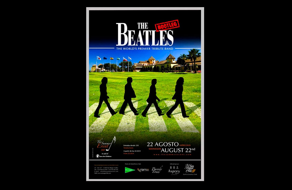cartel publicitario beatles