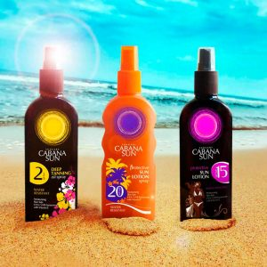 diseño de envases para nuestro cliente Cabana Sun