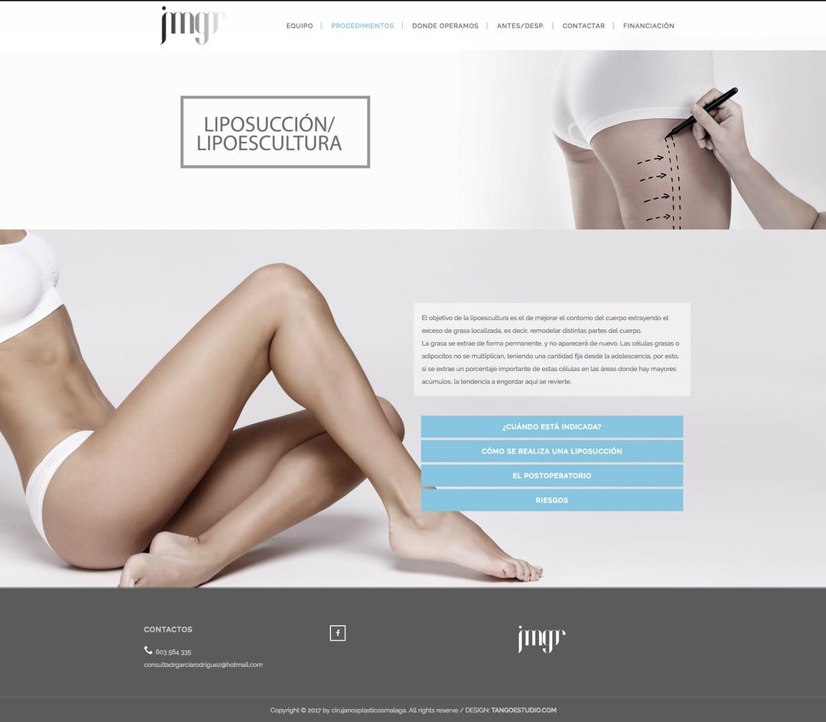 diseño web para cirujano plastico en malaga