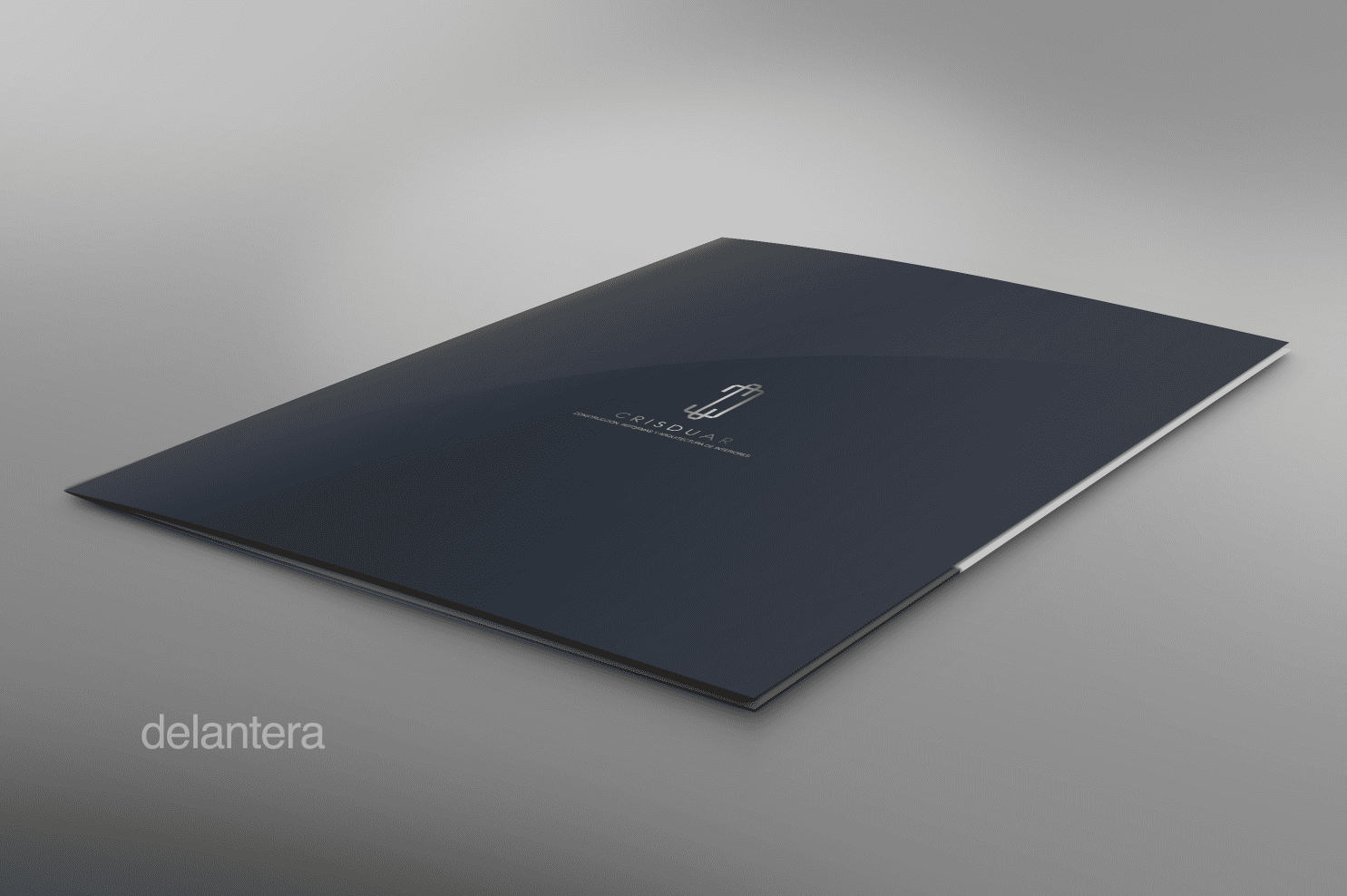 diseño de carpeta corporativa para empresa de construccion