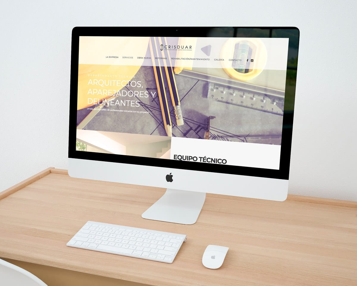 diseño de web pantalla completa