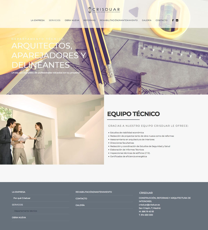 paginas web para empresas constructoras