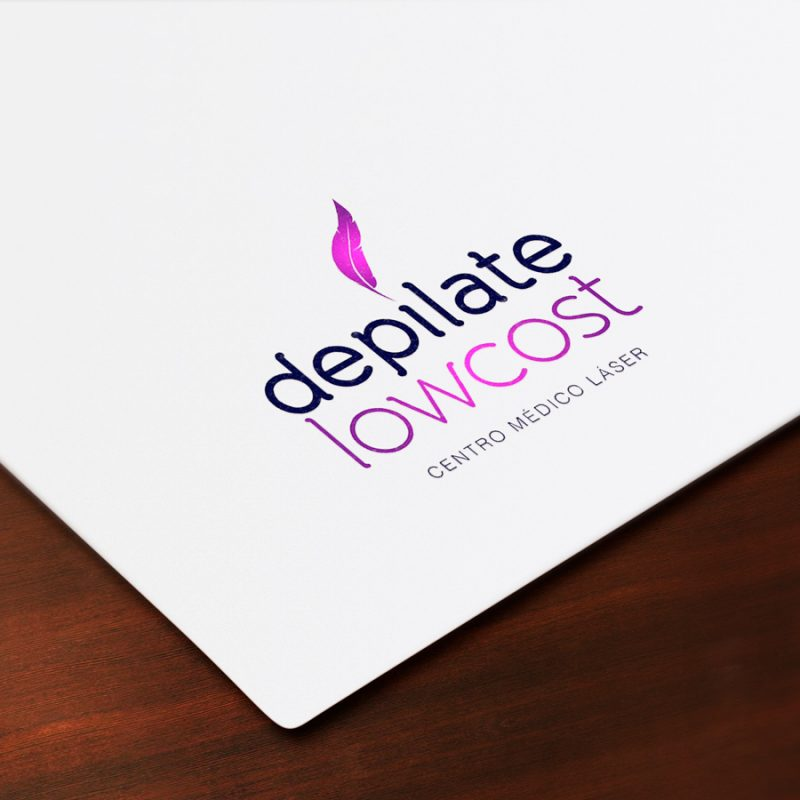 Depílate Low Cost, diseño de logotipo para empresa del sector estetica