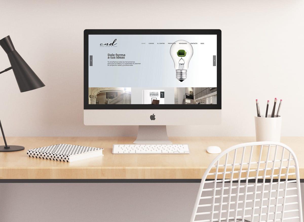 diseño de pagina web para escuela de interiorismo