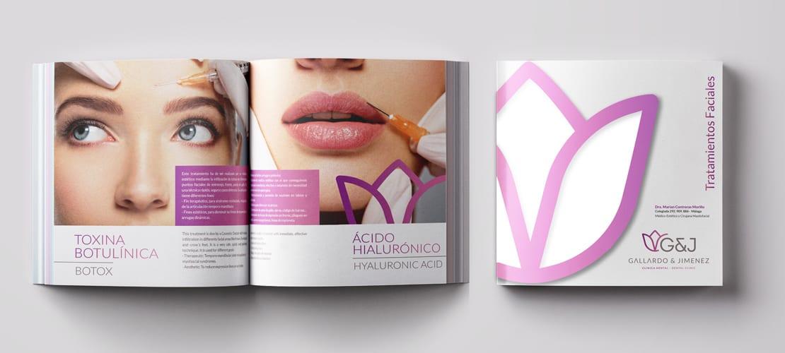 Diseño de catalogo para clinica dental