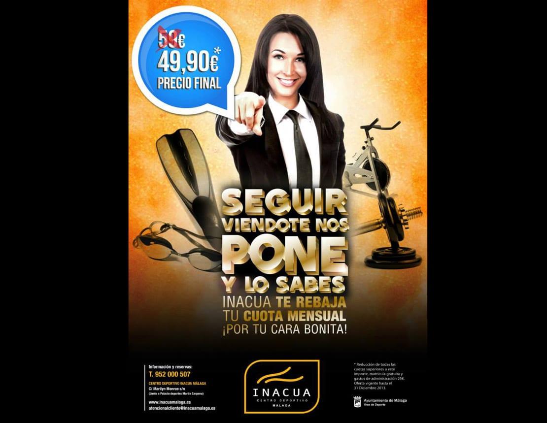 INACUA, cartel para publicidad en gimnasios