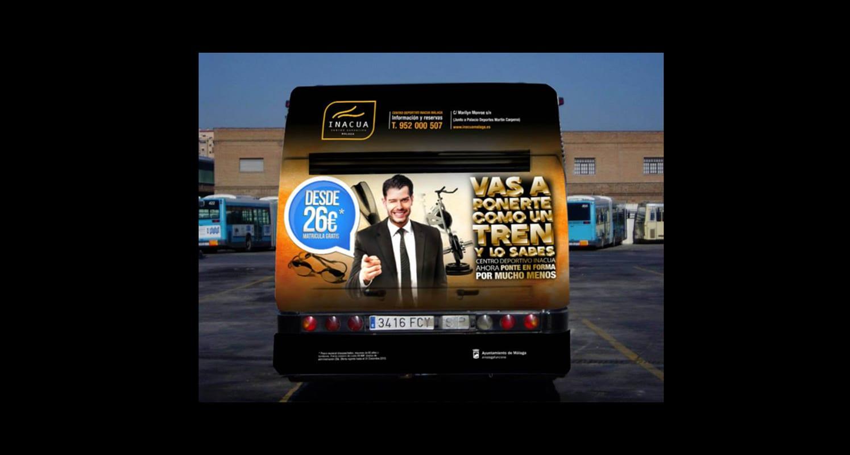 campaña creativa en buses