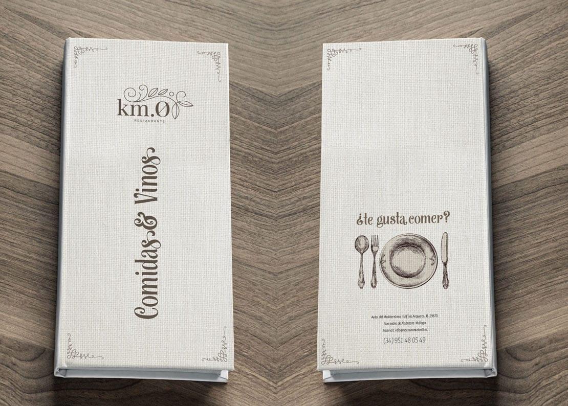 Diseño de cartas de calidad para restaurante