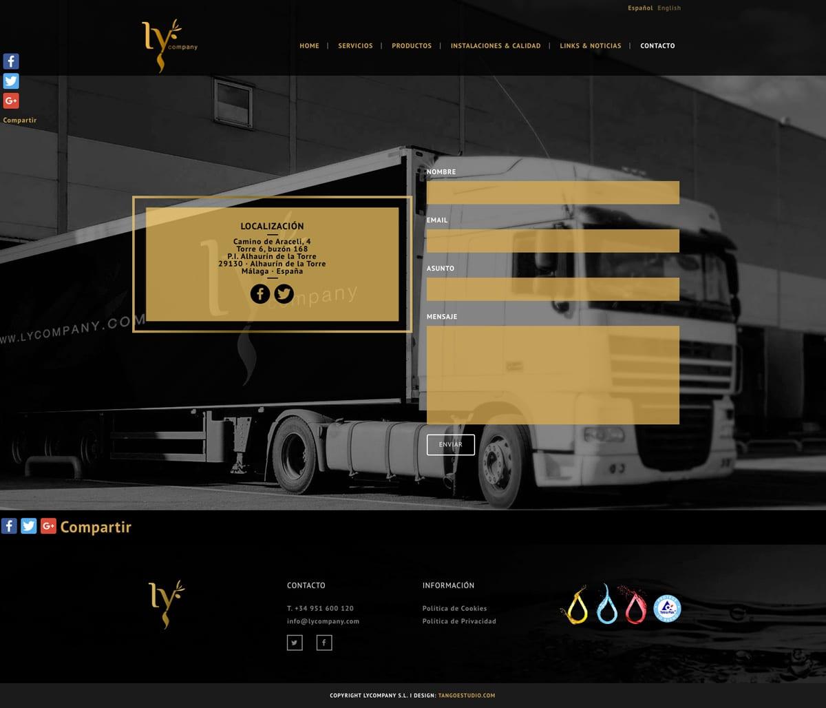 Diseño para contacto en web