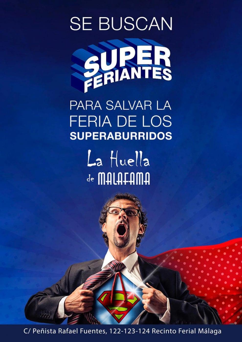 cartel creativo para la feria de Málaga