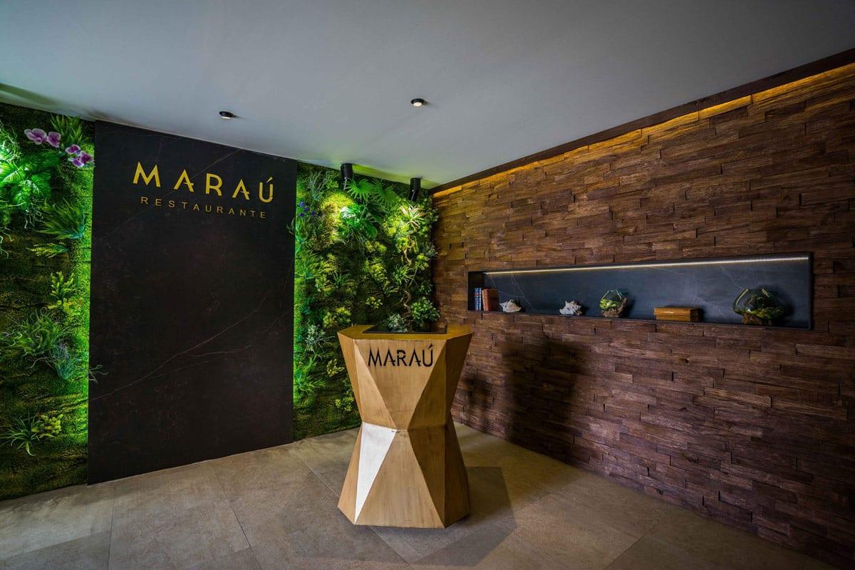 Marau, Almería, Beach club, Diseño de logotipo aplicado en la decoracion
