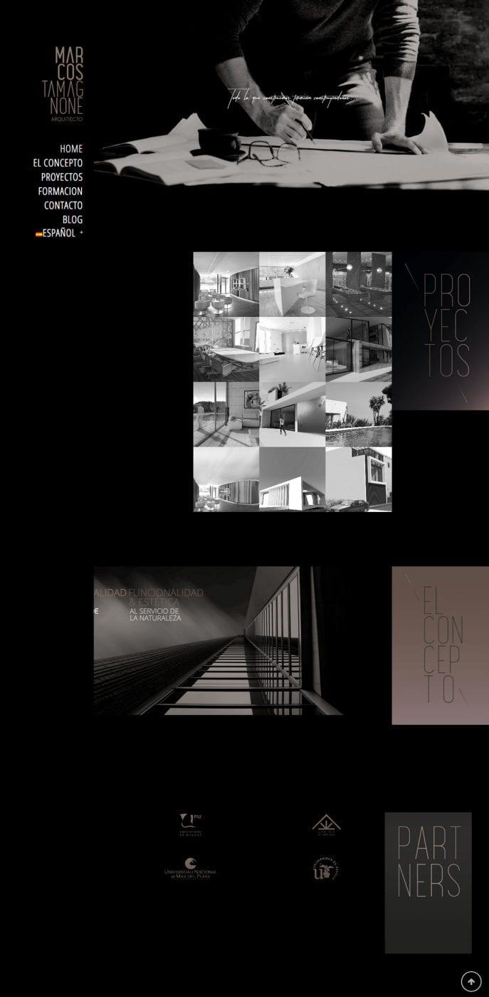 diseño de pagina web para arquitecto en marbella