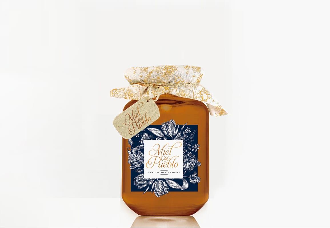 Miel del Pueblo, Tio Mofletes, diseño de envase para miel