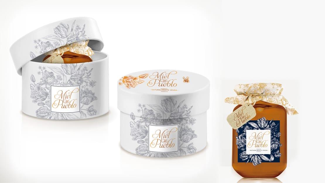 Miel del Pueblo, diseño de cajas y envases
