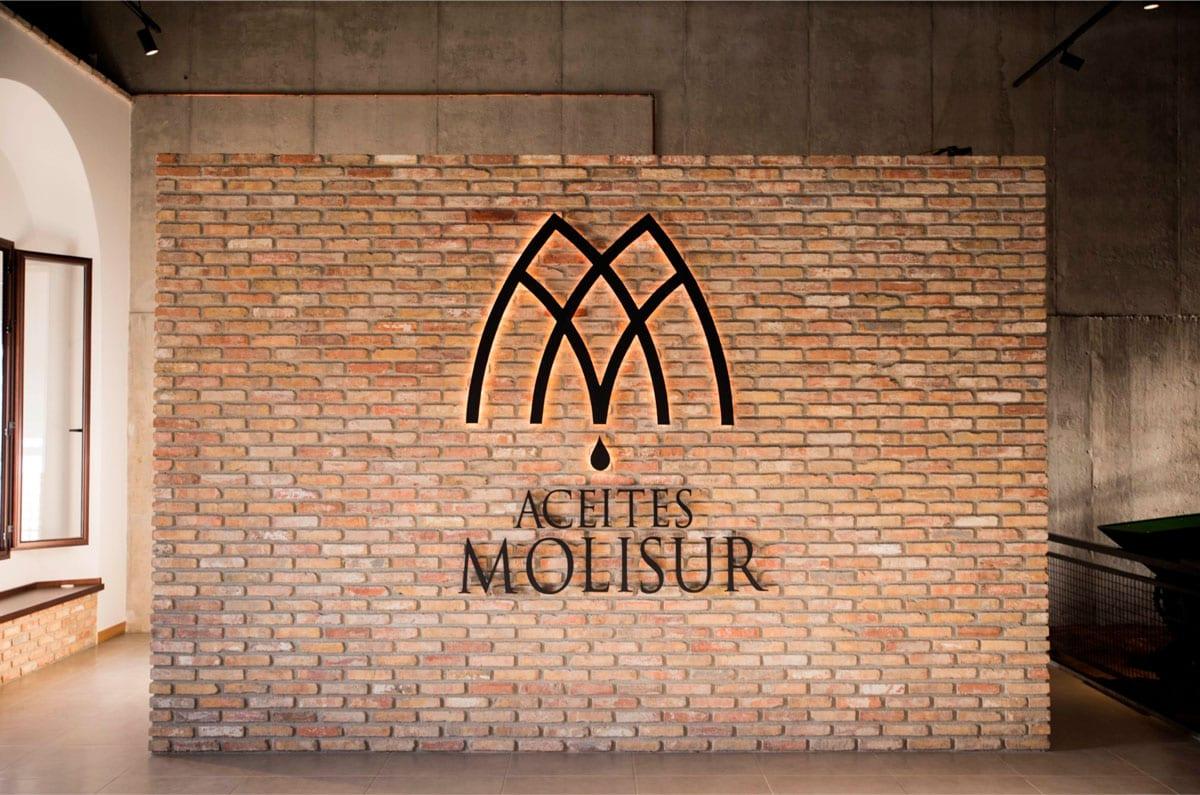 Aceites Molisur, Alhaurín el grande, diseño de logotipo en corporeo