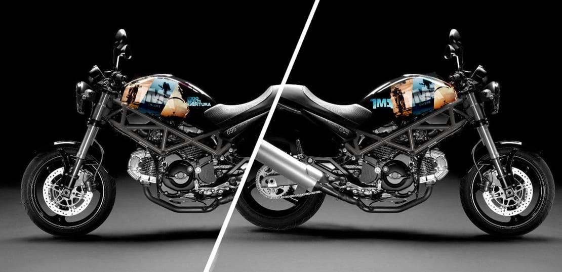 rotulacion de moto para empresa