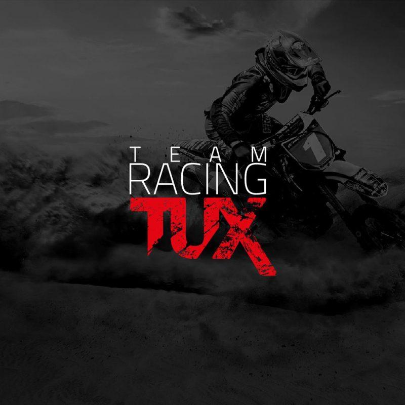 Team racing tux, diseño de imagen corporativa