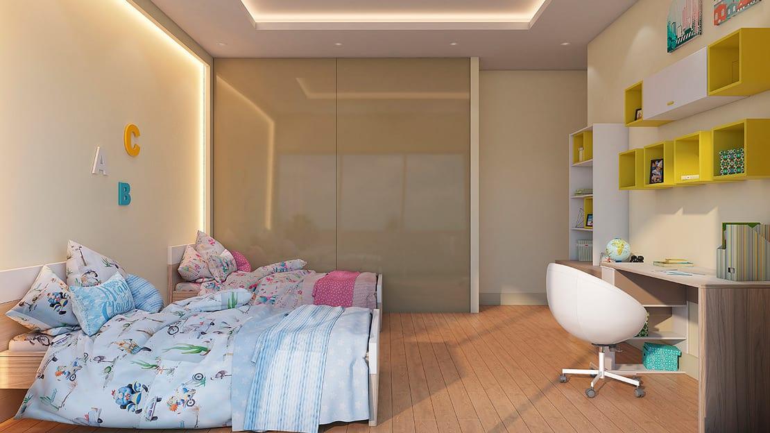 habitacion de niños render alta calidad