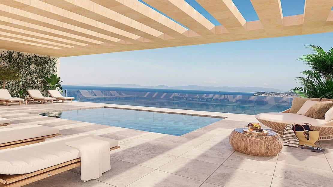 Borj Al Andalus, inforgrafia para promocion inmobiliaria en tanger