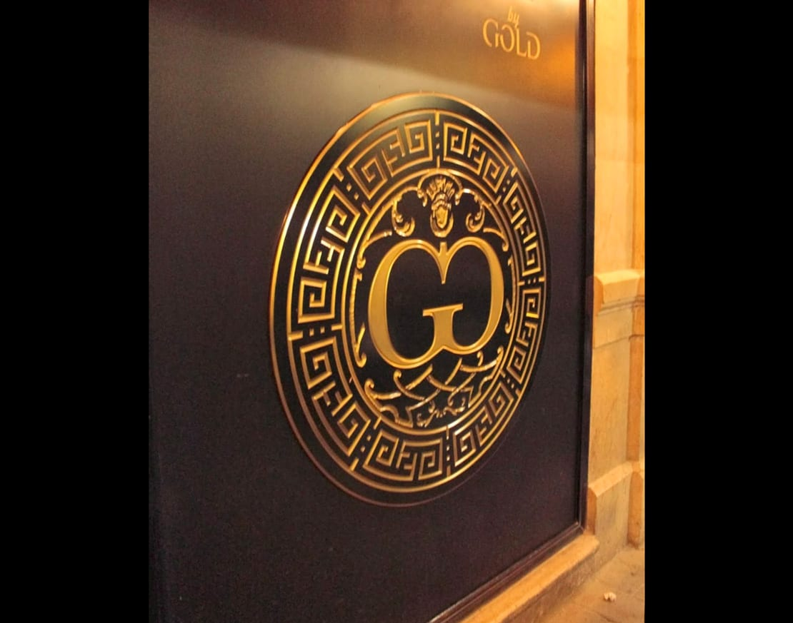 Sala Gold, Málaga centro, diseño de logotipo para discoteca en malaga