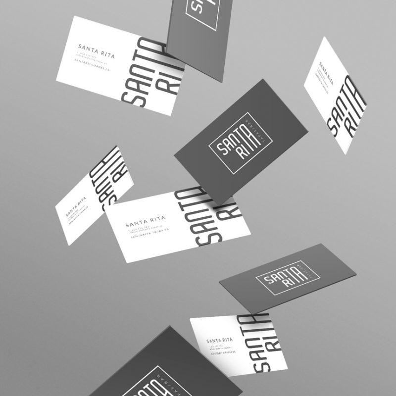 Santa Rita, diseño de tarjetas de visita economicas y elegantes