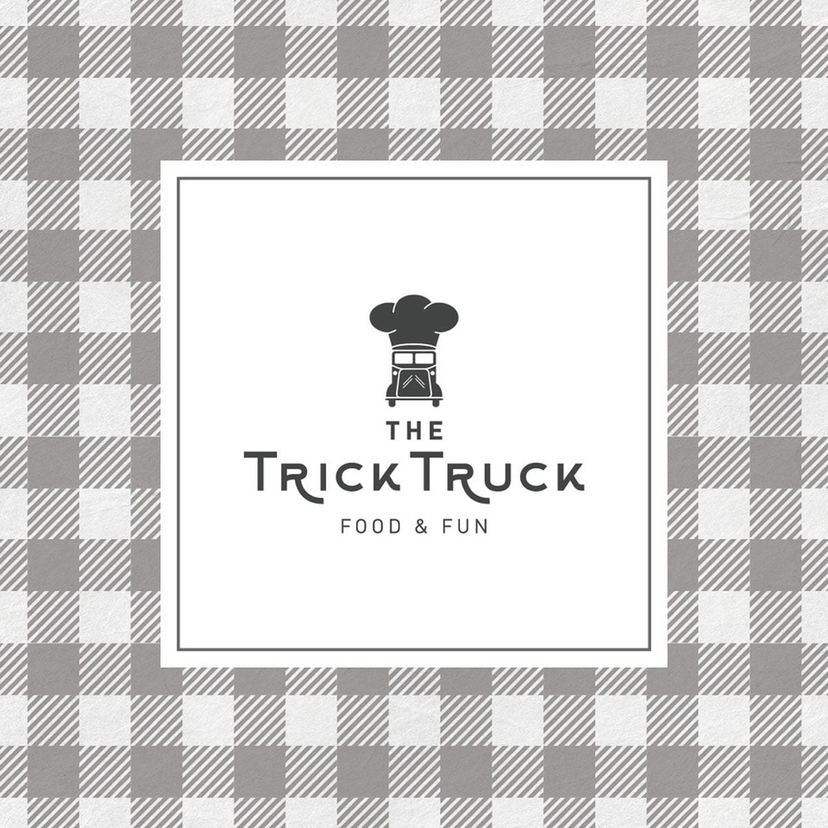 the trick truck, food and fun, diseño de logo