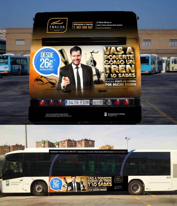 campaña creativa en autobuses, creatividad