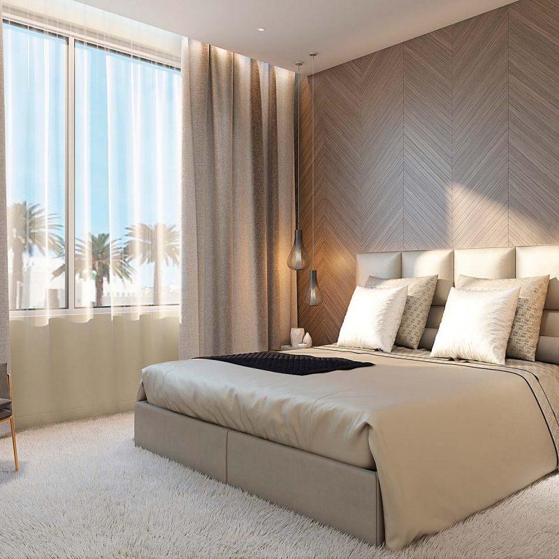 decoración de dormitorio para apartamento de lujo en tanger