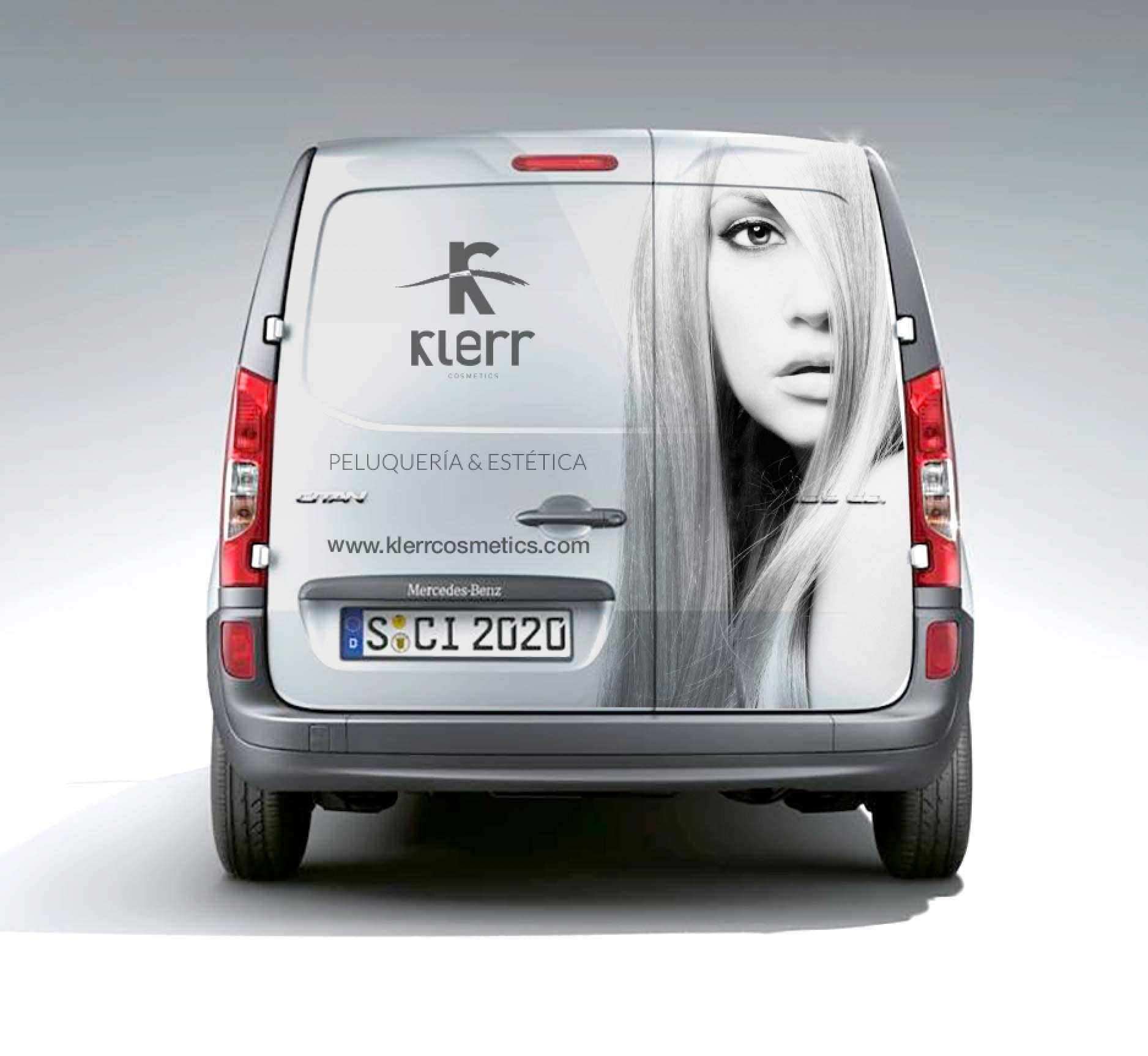 diseño de furgoneta para empresa de cosmetica